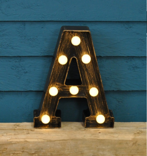 Letter A- Battery Operated Lumiere